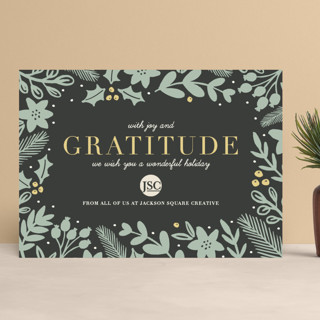 Bold Gratitude Business Holiday Cards