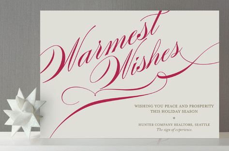 Winter Flourish Business Holiday Cards