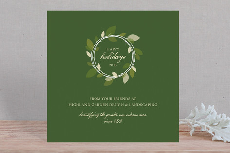 Autumn Wreath Business Holiday Cards