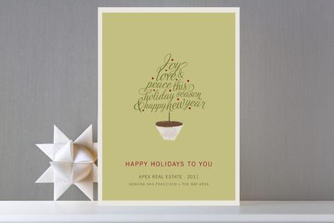 Joyful Tree Business Holiday Cards