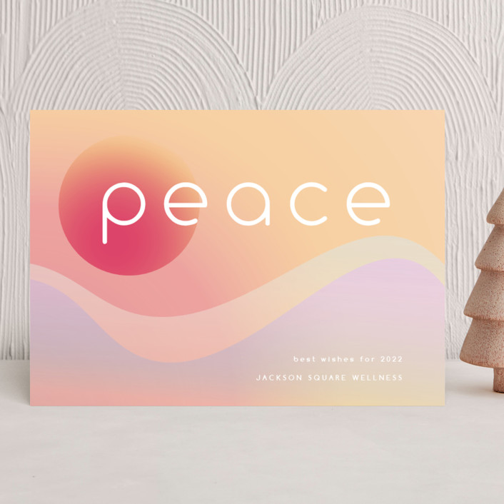 """""""a new peace"""" - Modern Business Holiday Cards in Compassion by Kamala Nahas."""