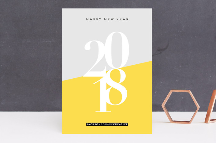 """""""Bright New Year"""" - Abstract Business Holiday Cards in Sunshine by lulu and isabelle."""
