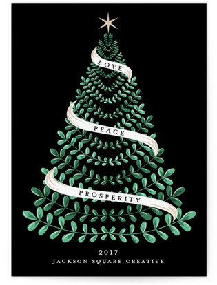 Love, Peace, Prosperity Business Holiday Cards
