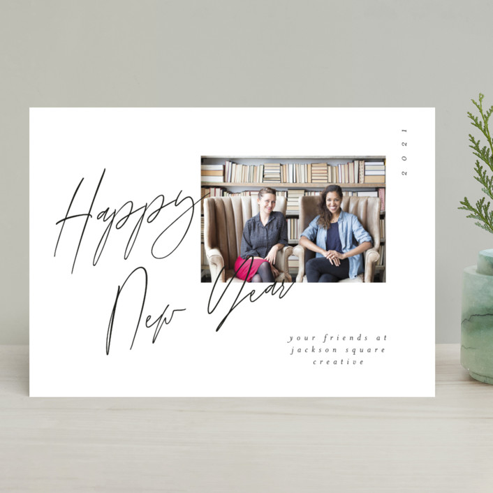 """""""handwritten note"""" - Business Holiday Cards in Snow by Morgan Kendall."""