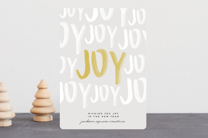 """""""Joyful Holiday"""" - Business Holiday Cards in Snow by Annie Montgomery."""