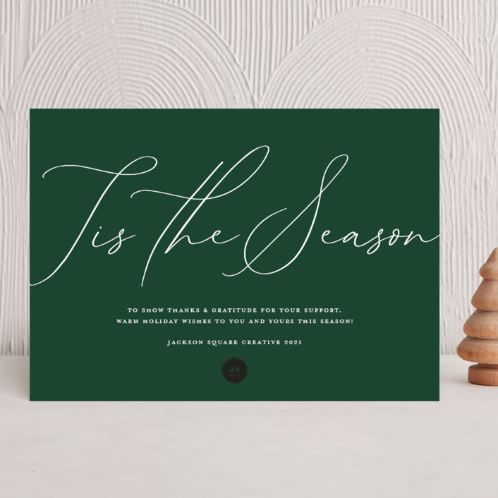 """""""Tis the Season"""" - Business Holiday Cards in Fir by Alethia Frye."""