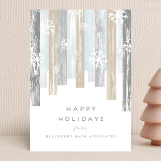 Modern Forest Business Holiday Cards