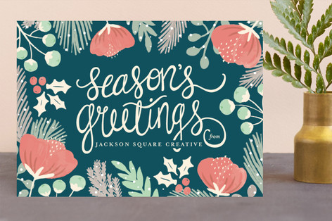 Botanical Business Holiday Cards