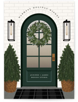 This is a green business holiday card by Ekko Studio called Holiday Home with standard printing on signature in standard.