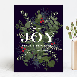 Joy and Prosperity Business Holiday Cards