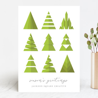 Uniquely Trees Business Holiday Cards