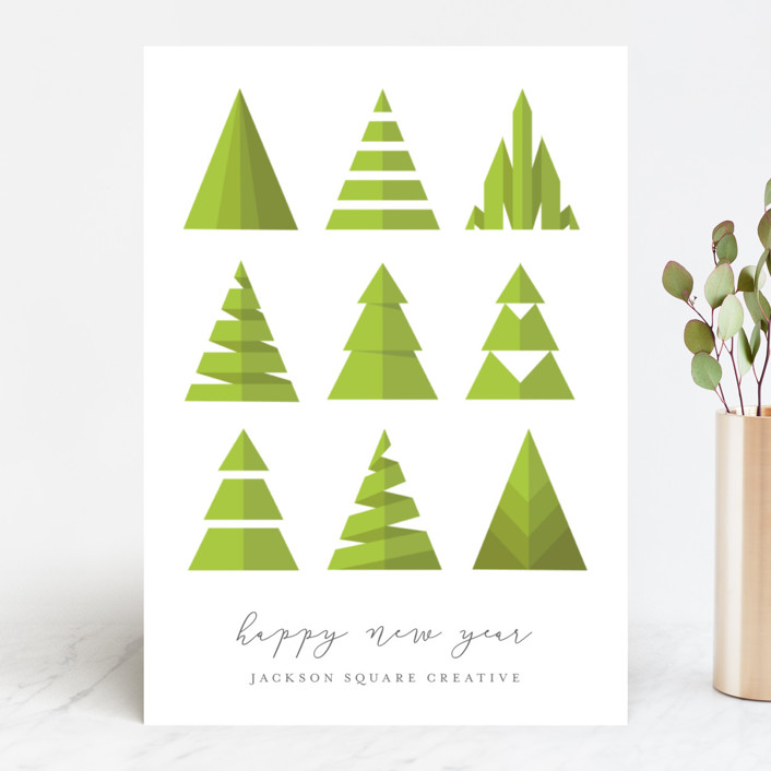"""Uniquely Trees"" - Vintage Business Holiday Cards in Tree by heythird."