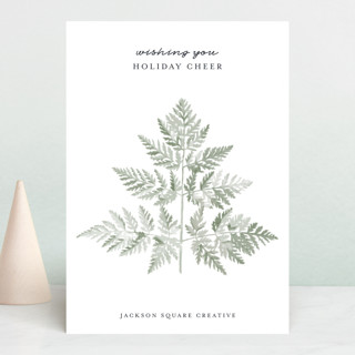 Delicate Fern Business Holiday Cards