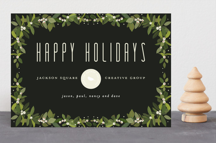"""Garland Holiday"" - Business Holiday Cards in Night by Chris Griffith."