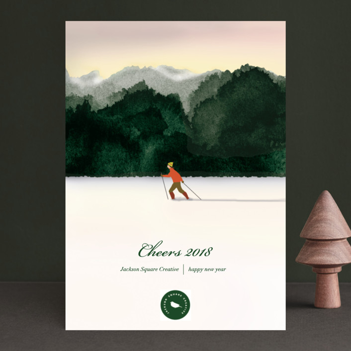 """Season's Best"" - Business Holiday Cards in Emerald by Shannon."