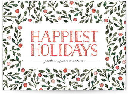Berries + Branches Business Holiday Cards