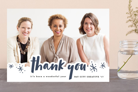 thank you sparkles Business Holiday Cards