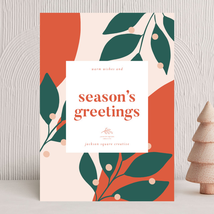 """""""Bold and Bright"""" - Modern Business Holiday Cards in Mandarin by Kelly Schmidt."""