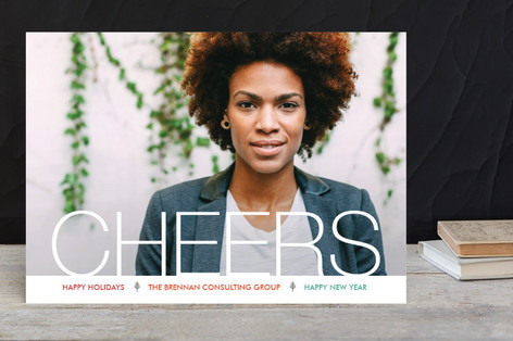 Simple Cheers Business Holiday Cards