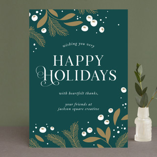 Golden Holiday Business Holiday Cards