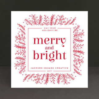 Golden Foliage Business Holiday Cards