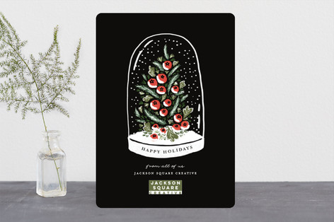 Winter's Greeting Business Holiday Cards