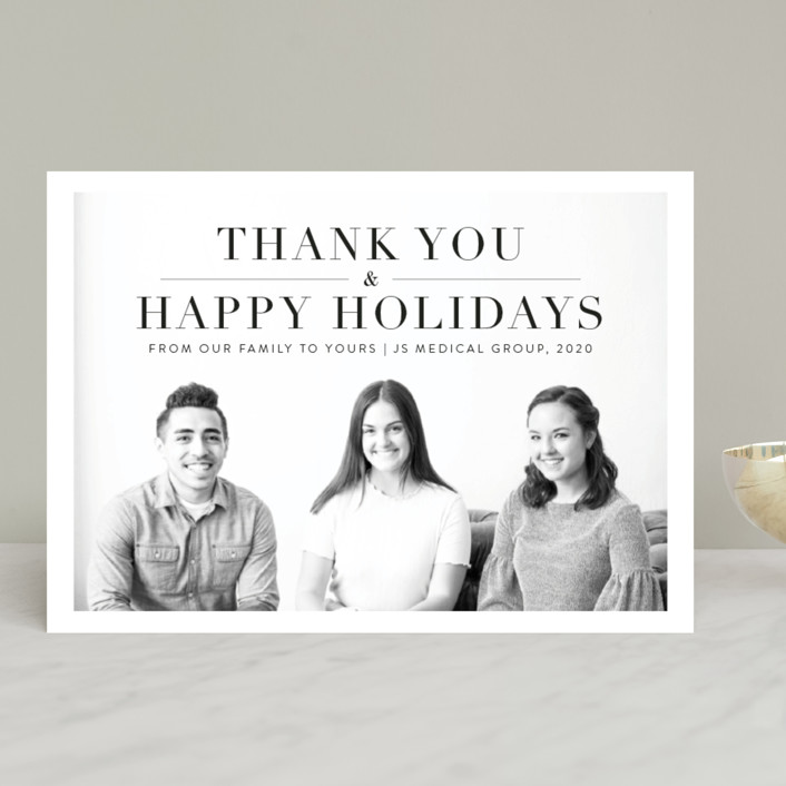 """""""Thank you"""" - Business Holiday Cards in Onyx by Kasia Labocki."""