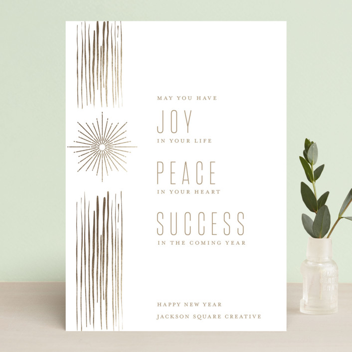"""""""Season of Light"""" - Business Holiday Cards in Winter Solstice by Debb W."""