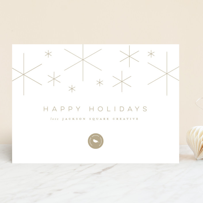 """""""Stars"""" - Business Holiday Cards in Golden by Lori Wemple."""