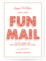 This is a red business holiday card by Paper Raven Co. called Fun Mail with standard printing on signature in standard.