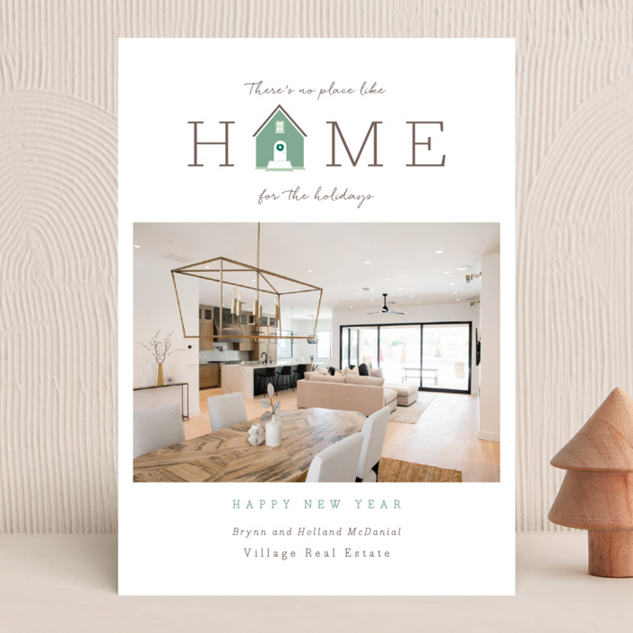 """Home for the Holidays"" - Business Holiday Cards in Woodland Estate by Debb W."