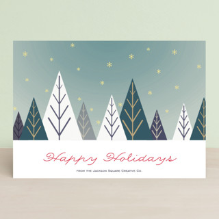 Deco Forest Business Holiday Cards
