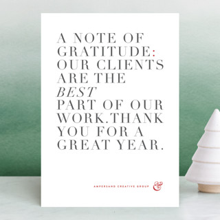 Simply grateful Business Holiday Cards