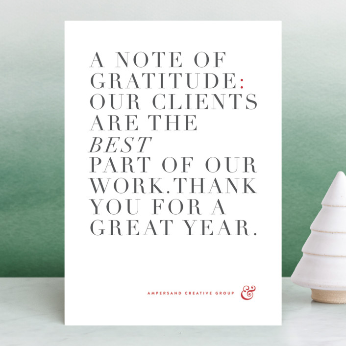 """Simply grateful"" - Business Holiday Cards in Garnet by kelli hall."