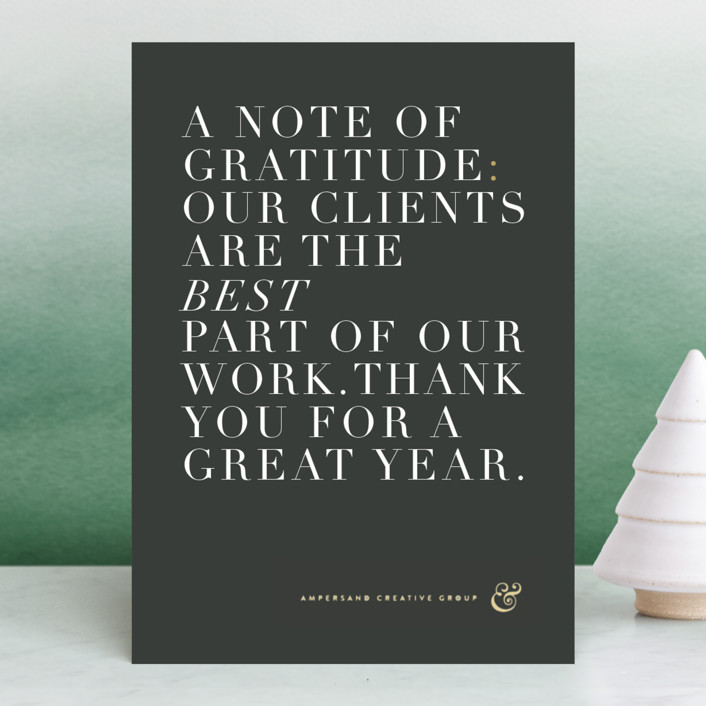 """""""Simply grateful"""" - Business Holiday Cards in Garnet by kelli hall."""