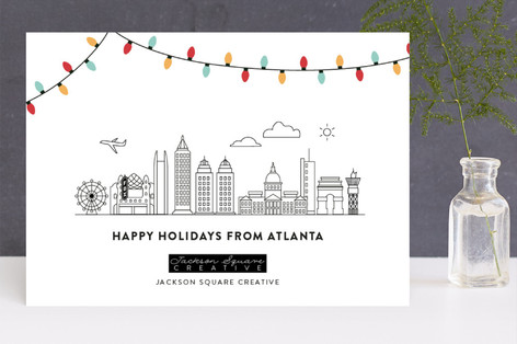 Big City Lights Business Holiday Cards