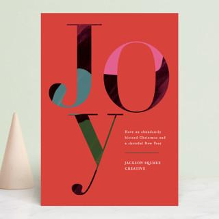 Joyful Hues Business Holiday Cards