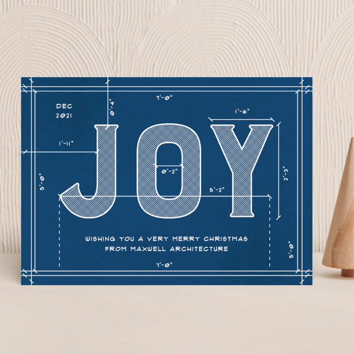 """""""Joy Plans"""" - Business Holiday Cards in Sea by Amy Payne."""
