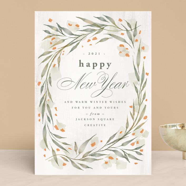 """Festive Frame"" - Business Holiday Cards in Sand by Anastasia Makarova."