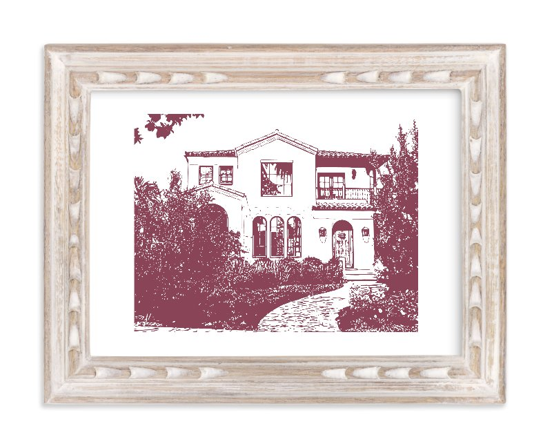 """Custom House Portrait Art"" - House Digital Art by Minted in beautiful frame options and a variety of sizes."