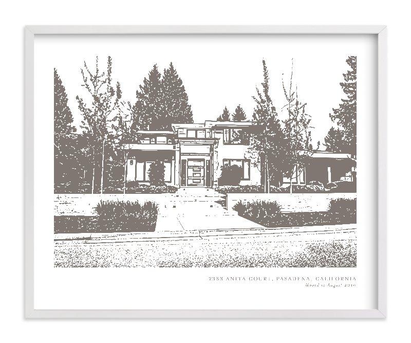 Custom House Portrait with Text Custom House Portrait Art