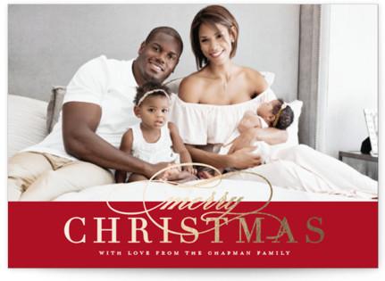 Simple Elegance Foil-Pressed Holiday Petite Cards