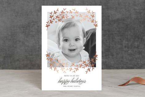 Lovely Laurel Foil-Pressed Holiday Petite Cards
