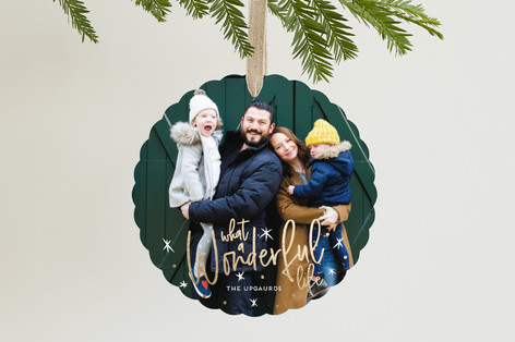 Whimsically Wonderful Foil-Pressed Holiday Ornament Cards