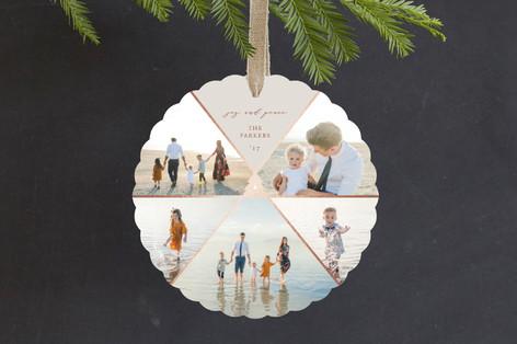 Geo Tree Foil-Pressed Holiday Ornament Cards