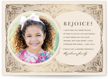 This is a brown foil stamped holiday card by Katie Zimpel called bible verse with foil-pressed printing on smooth signature in standard.