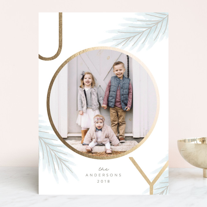 Circle of Joy Foil Pressed Holiday Card
