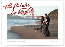 This is a red foil stamped holiday card by Ashley DeMeyere called A Bright Future with foil-pressed printing on smooth signature in standard.