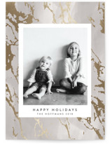 This is a grey foil stamped holiday card by Melanie Severin called Stunning Marble with foil-pressed printing on smooth signature in standard.