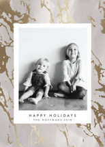 Stunning Marble Foil-Pressed Holiday Cards By Melanie Severin